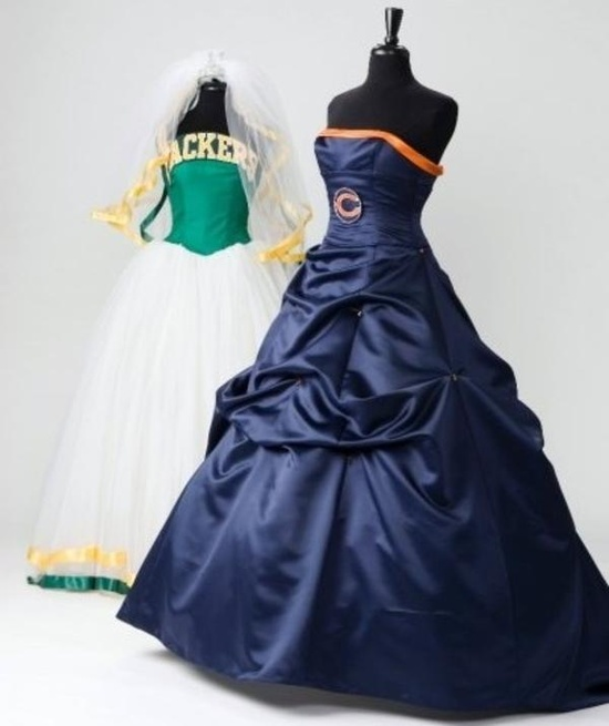 chicago-bears-green-bay-packers-bridesmaids-dresses