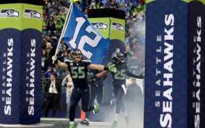 Team waving flag